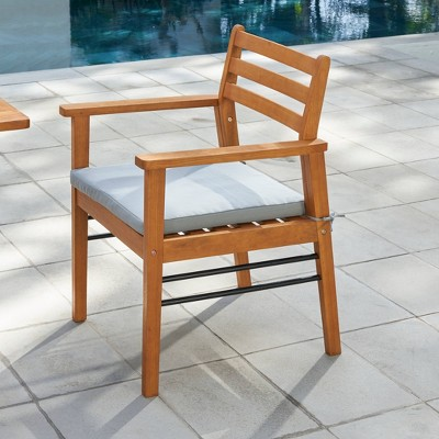Gloucester Contemporary Wood Patio Dining Chair - Vifah