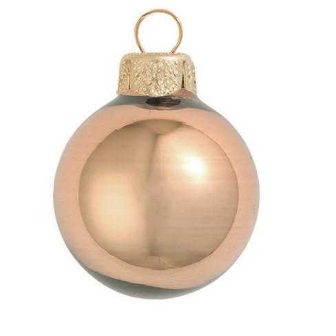 """Northlight 6ct Shiny Glass Ball Christmas Ornament Set 4"""" - Chocolate Brown - image 1 of 1"""