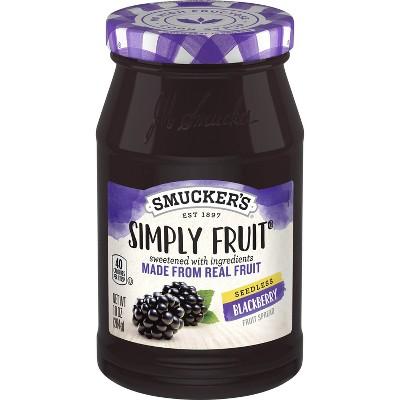 Smucker's Simply Fruit Seedless Blackberry Spread - 10oz