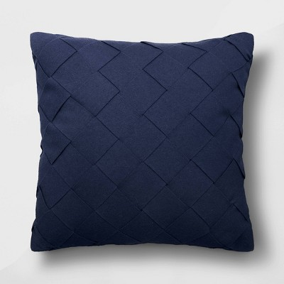 Oversized Basket Weave Square Throw Pillow Blue - Project 62™