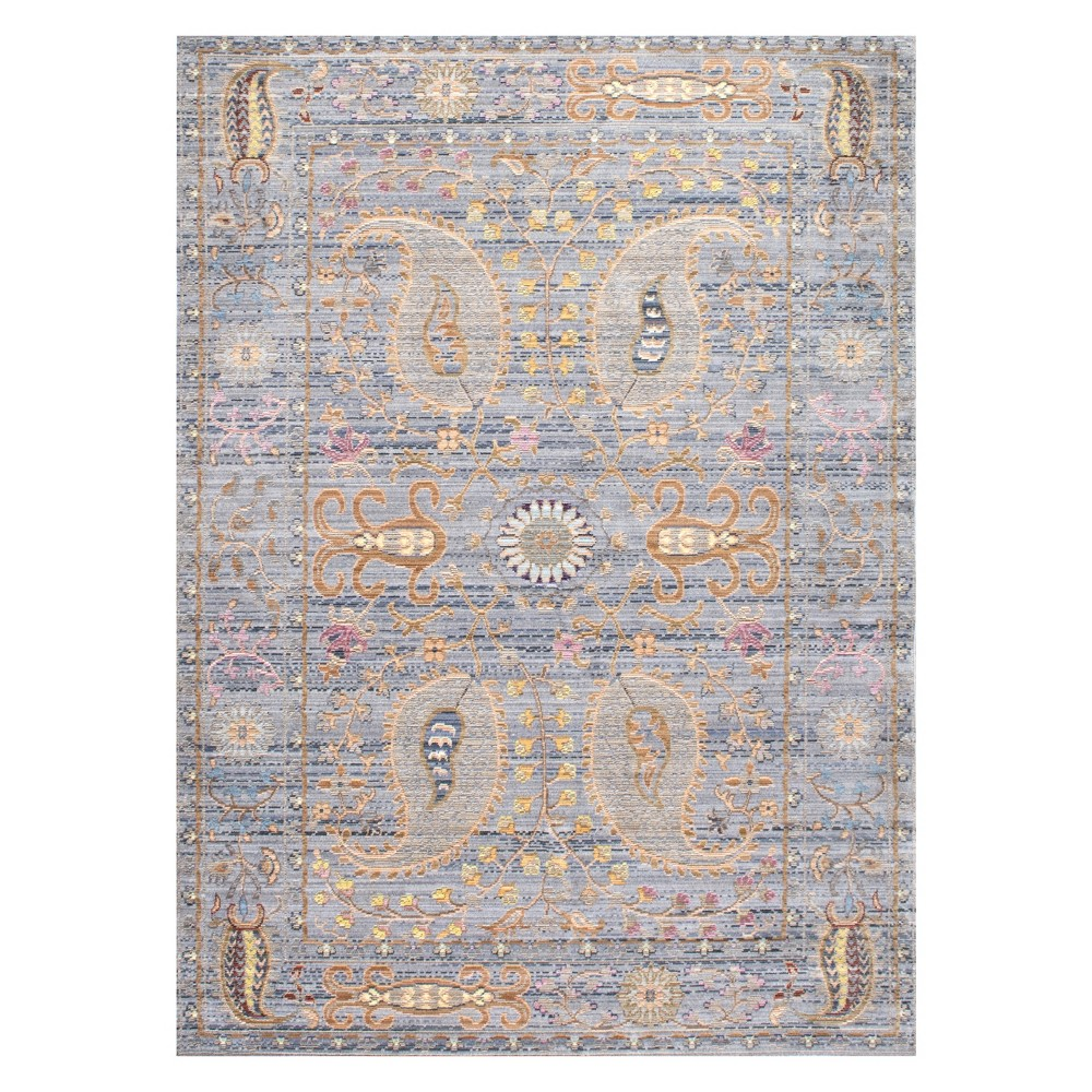 Gray Solid Loomed Area Rug 4'X6' - nuLOOM, Beige
