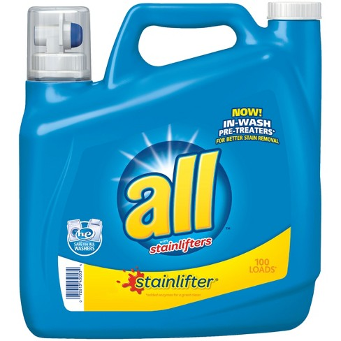all® Ultra Stain Lifter HE Liquid Laundry Detergent 150oz- 100 loads - image 1 of 3