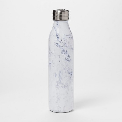 20oz Venti Air Transfer Stainless Steel Portable Water Bottle White Marble - Room Essentials™