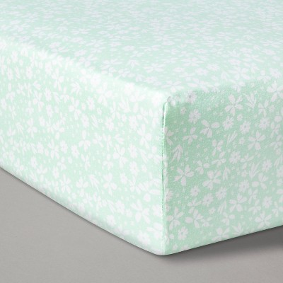 Fitted Crib Sheet Ditzy Floral - Cloud Island™ Mint