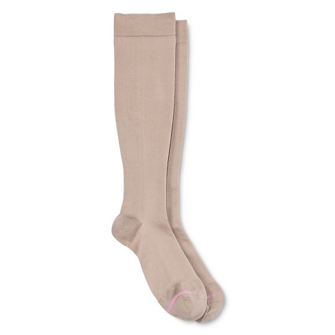 d77405875 Dr. Motion Women s Mild Compression Knee High Socks - Nude 4-10   Target