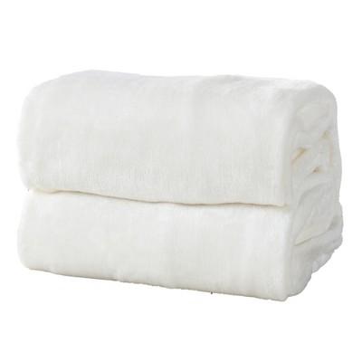 Great Bay Home Ultra Velvet Plush Solid Blanket : Target