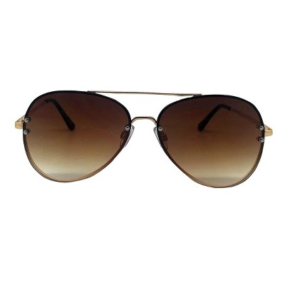 Women's Aviator Sunglasses - A New Day™ Gold