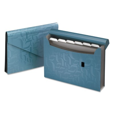 Pendaflex Expanding Poly Files 7 Pockets Poly 1/6 Tab Letter Blue 01158
