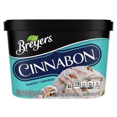 Breyers Cinnabon Frozen Dairy Ice Cream Dessert - 48oz
