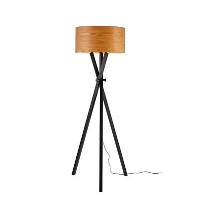 "62"" Bronx Collection Floor Lamp Black - Adesso"