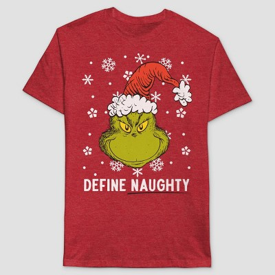 Men's Dr. Seuss The Grinch Short Sleeve Graphic T-Shirt - Red