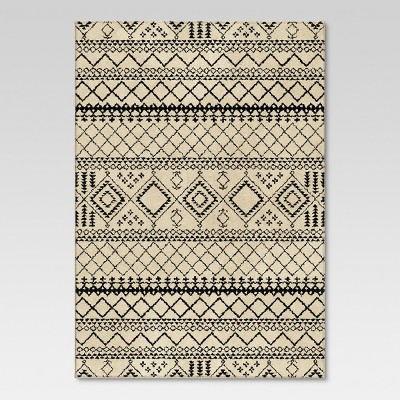 Aztec Fleece Area Rug - Ivory (6'7 x9'8 )- Threshold™