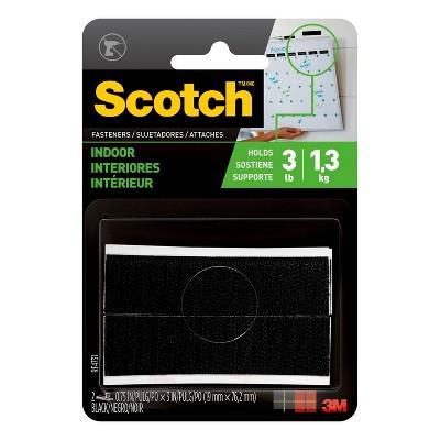 "Scotch 3/4"" x 3"" indoor Fasteners Black"