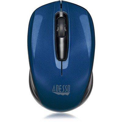Adesso iMouse S50L - 2.4GHz Wireless Mini Mouse - Optical - Wireless - Radio Frequency - Blue - USB - 1200 dpi - Scroll Wheel - 3 Button(s)
