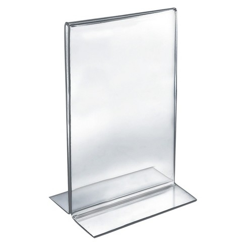 """Azar 8.5"""" x 14"""" Double-Foot Acrylic Sign Holder 10ct - image 1 of 1"""
