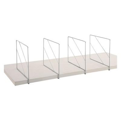 Neu Home Shelf Divider 2pc Shiney Silver
