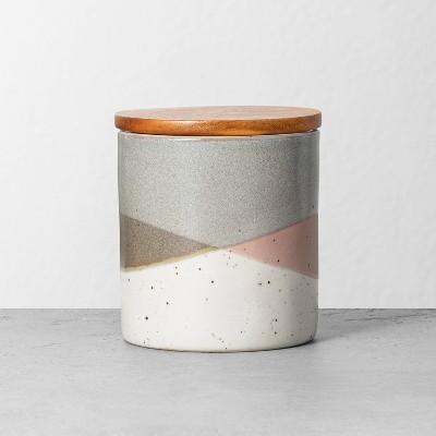 Refined Stoneware Sugar Canister Gray/Copper - Hearth & Hand™ with Magnolia