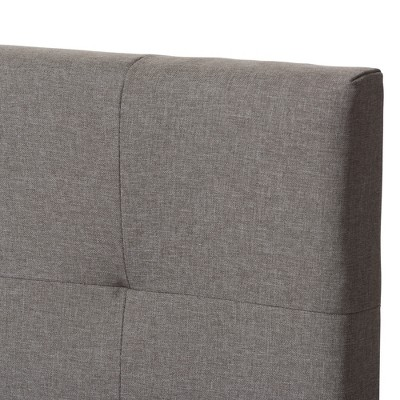 Brookfield Modern And Contemporary Fabric Upholstered Bed - Twin - Light Gray - Baxton Studio : Target