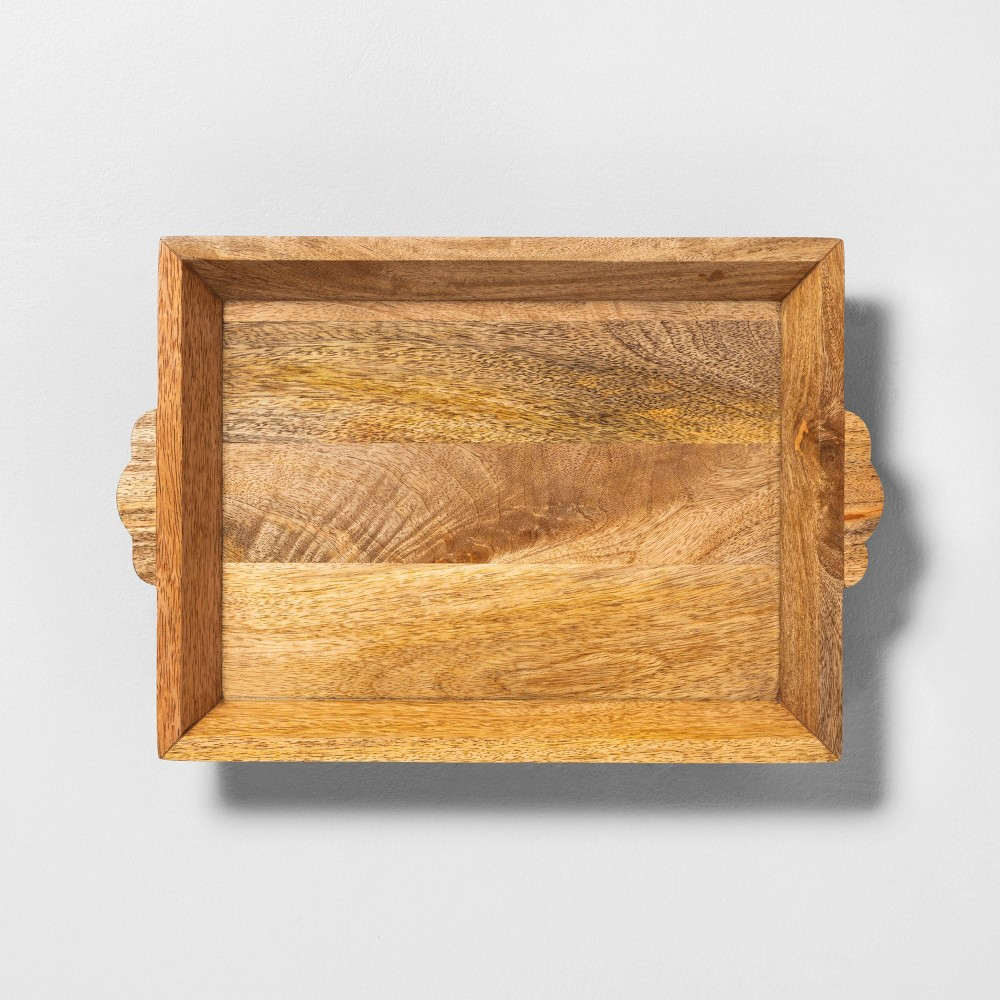 Image of Rectangle Carved Wood Tray - Hearth & Hand with Magnolia