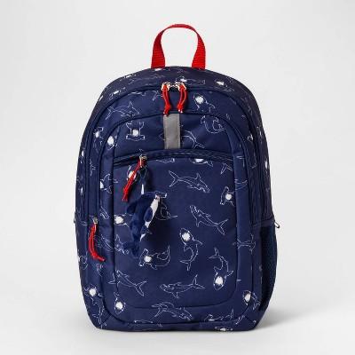 17\' Sharks Kids' Backpack Dark Blue - Cat