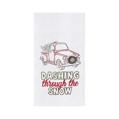 C&F Home Dashing Through The Snow Flour Sack Kitchen Dishtowel