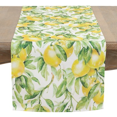 Saro Lifestyle 72 X16  Let There Be Lemons Tableclothslime