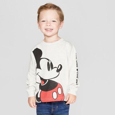 Toddler Boys' Disney Long Sleeve T-Shirt - White 2T