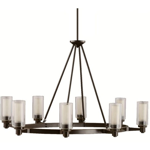 "Kichler 2345 Circolo 8 Light 36"" Wide Chandelier with Dual Cylindrical Shades - image 1 of 3"