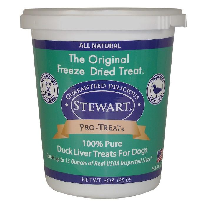 Stewart Freeze-Dried Duck Dog Treat - 3oz Tub - image 1 of 3