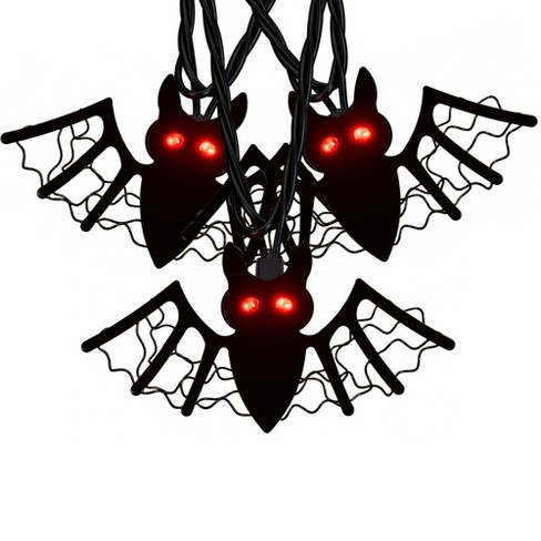 10ct Halloween LED Wire Bat Lights Red - Hyde and Eek! Boutique™ - image 1 of 1