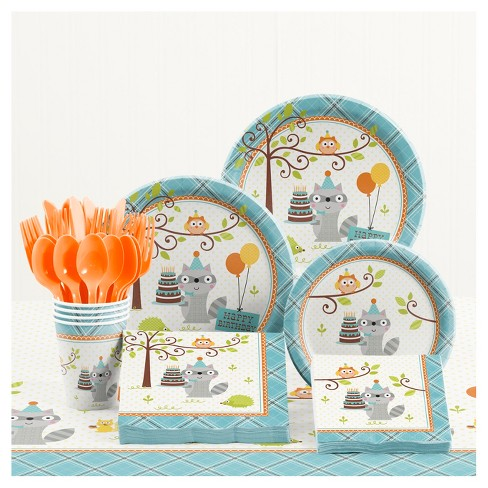 Happi Woodland Boy Birthday Party Supplies Kit