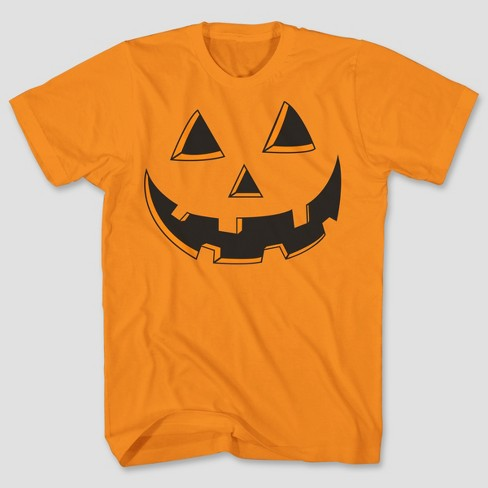 3939c235 Men's Halloween Pumpkin Short Sleeve Graphic T-Shirt - Orange M : Target