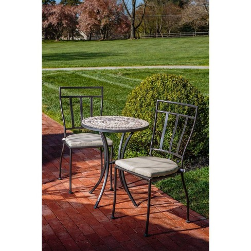 Powder Coated Steel Semplice Indoor/Outdoor Bistro Chair with Cushion - Alfresco Home - image 1 of 2