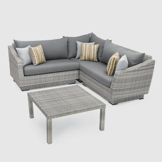RST Brands Cannes 4-piece Corner Sectional Set - Charcoal Gray