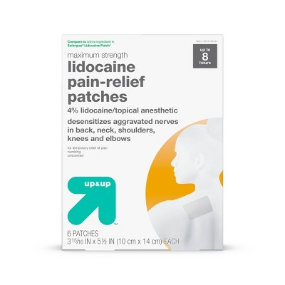 Lidocaine 4% Pain Relieving Gel Patch - 6ct - up & up™
