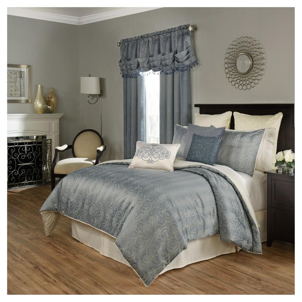 Blue Stripe Avignon Comforter Set (King) 4pc - Beautyrest