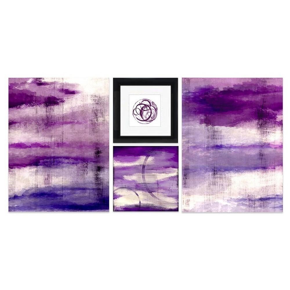 Purple Light Framed Wall Canvas (40