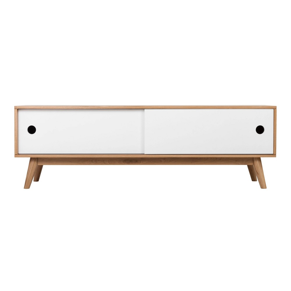 Image of Abacus Storage Console Oak/White - Universal Expert