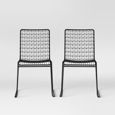 Set of 2 Oster Wire Dining Chair Black - Project 62™