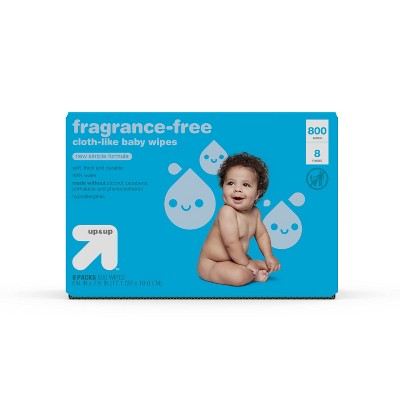 Fragrance Free Baby Wipes Refill Pack - 800ct - up & up™