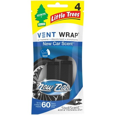 Little Trees 4pk Vent Wrap New Car Scent Air Fresheners
