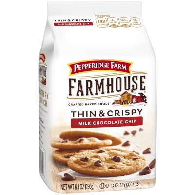 Pepperidge Farm Farmhouse Thin & Crispy Milk Chocolate Chip Cookies - 6.9oz