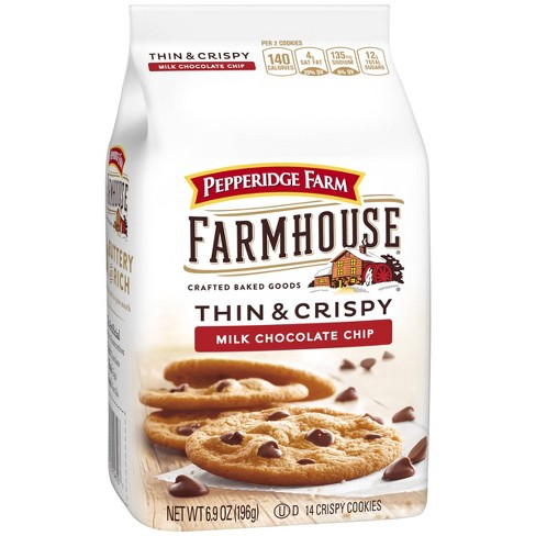 Pepperidge Farm Farmhouse Thin & Crispy Milk Chocolate Chip Cookies - 6.9oz - image 1 of 4