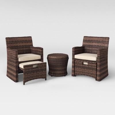 halsted 5pc wicker patio seating set tan threshold target rh target com Threshold Furniture Parts Target Threshold Furniture