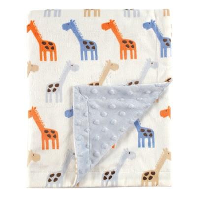 Hudson Baby Infant Boy Plush Mink Blanket, Blue, One Size