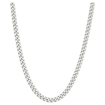 Tiara Sterling Silver Gourmette Chain Necklace