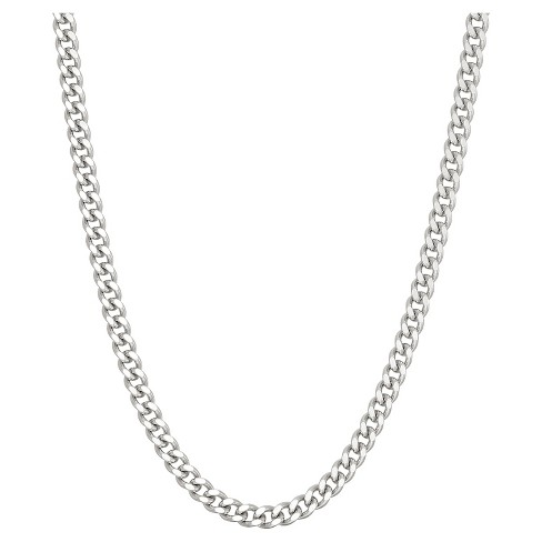 Tiara Sterling Silver Gourmette Chain Necklace - image 1 of 1