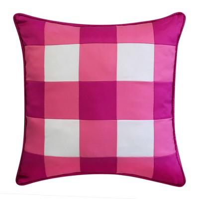 "20"" x 20"" Gingham Decorative Patio Throw Pillow - Edie@Home"