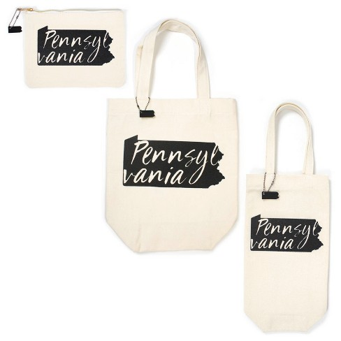 3pk Pennsylvania Totes Includes Zipper Pouch Tote Bag And Wine Bullseye S Playground