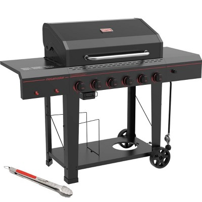 Megamaster 720-0983TG 6 Burner Gas Grill with Stainless Steel Tong